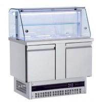 KAM 3G MINI-Salatbar 3/1 GN mit Glasaufbau geschlossen
