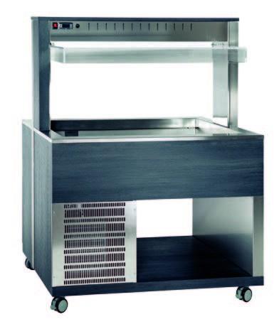 Athena 3R/F Buffetserie Kaltbuffet 3 x1/1 GN stiller Kühlung