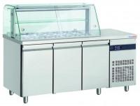 KA 3/1 Speisausgabe kalt mit Glasaufbau 3 ½ x 1/1 GN 150