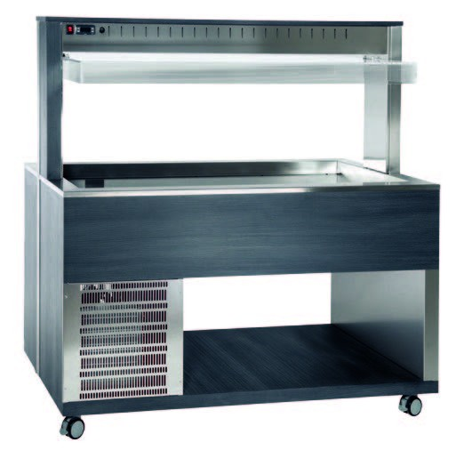 Athena 4R/F Buffetserie Kaltbuffet 4 x 1/1 GN stiller Kühlung