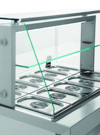 KA 2/1 Speisausgabe kalt mit Glasaufbau 2 ½ x 1/1 GN 150