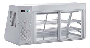 KAV 130 Kühlaufsatzvitrine mit Entnahmeklappen 4 Klappen, 3 Ebenen
