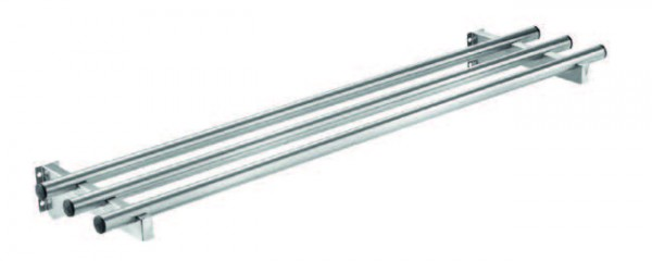 Edelstahl-Rundrohr Tablettrutsche für 3 x 1/1 GN